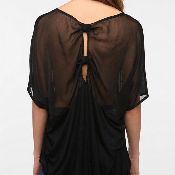UO Daydreamer LA Chiffon Back Oversized Tee